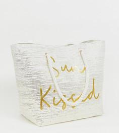 Пляжная сумка с надписью Sun kissed эксклюзивно от South Beach - Золотой