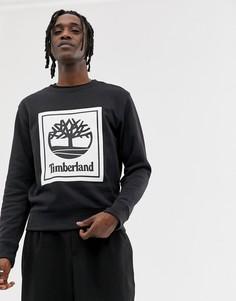 Черный свитшот с круглым вырезом и принтом Timberland - Черный
