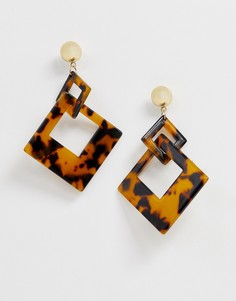 Серьги-подвески с квадратным дизайном Nylon - Мульти