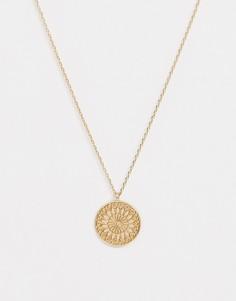 Золотистое ожерелье с подвеской-колесом Nylon - Золотой