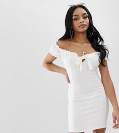 Белое облегающее платье Missguided Petite - Белый