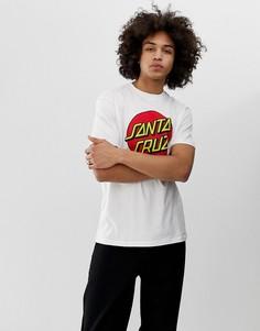 Белая футболка с принтом Santa Cruz - Белый