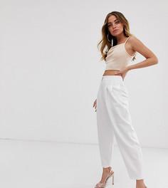 Белые зауженные брюки в стиле 80-х ASOS DESIGN Petite - Белый