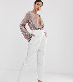 Белые зауженные брюки в стиле 80-х ASOS DESIGN Tall - Белый
