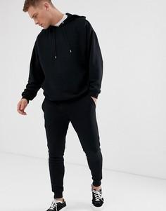Черный спортивный oversize-костюм с худи ASOS DESIGN - Черный