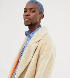 Длинное пальто из искусственного меха COLLUSION - Кремовый