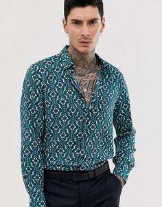 Мягкая приталенная рубашка из вискозы с длинными рукавами Devils Advocate - Зеленый