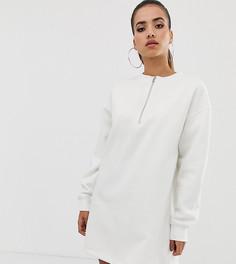 Белое платье-свитшот в стиле oversize Missguided - Серый