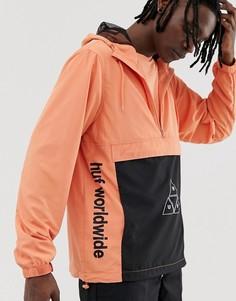 Анорак кораллового цвета HUF - Peak 3.0 - Оранжевый