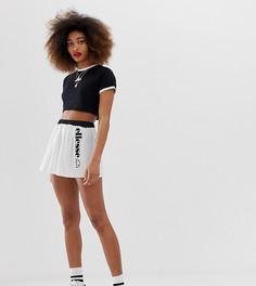 Теннисная мини-юбка с логотипом Ellesse - Белый