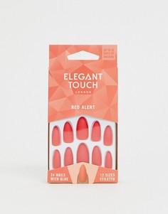 Накладные ногти Elegant Touch Polished Core - Красный - Красный