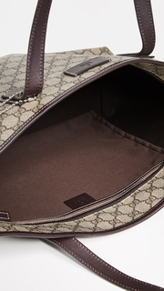 0ce0fbae97ea What Goes Around Comes Around Gucci Brown Coated Canvas Medium Tote Bag