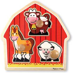 """Рамка-вкладыш Melissa & Doug """"Мои первые пазлы"""", Животные с фермы"""