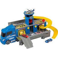 Полицейский грузовик HTI, 2 машинки и вертолет