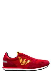 Комбинированные кроссовки Emporio Armani