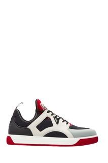 Комбинированные кроссовки-лоутопы Fendi