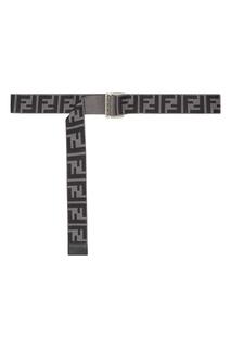 Серый ремень с монограммами FF Fendi