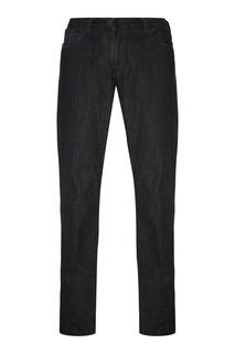 Черные джинсы с отворотами Emporio Armani
