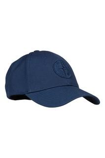 Синяя бейсболка с логотипом Stone Island