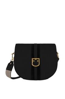 Черная кожаная сумка Gioia Furla