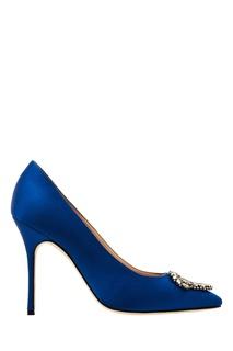 Синие туфли Okkava Manolo Blahnik