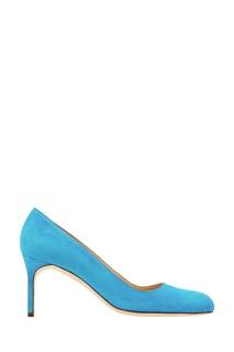 Ярко-голубые замшевые туфли BB Manolo Blahnik