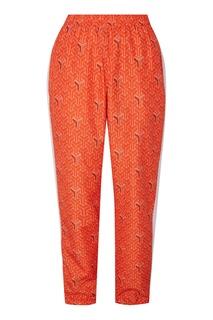 Бело-оранжевые спортивные брюки Renovation