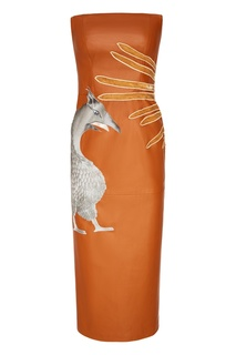 Кожаное платье с грифоном Alena Akhmadullina