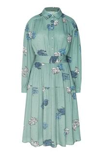 Платье миди с оборкой и поясом Akhmadullina Dreams