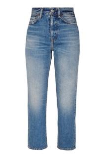 Синие джинсы с потертостями Acne Studios