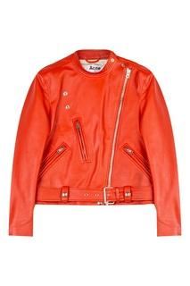 Красная кожаная куртка Acne Studios