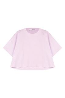 Свободная розовая футболка Acne Studios