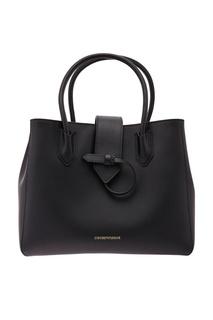 Черная сумка из кожи Emporio Armani