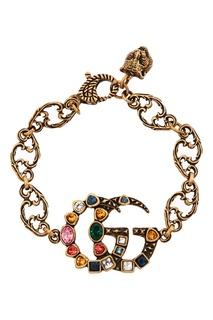Браслет-цепочка с логотипом GG Gucci