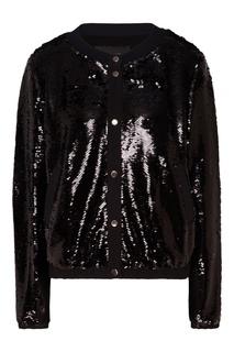 Куртка с блестящей отделкой Emporio Armani