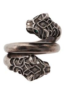 Кольцо с двумя тигриными головами Gucci