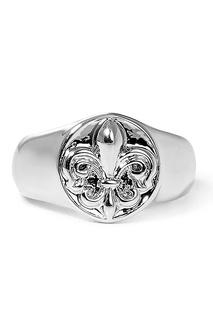 Серебристое кольцо с геральдической лилией Lisa Smith