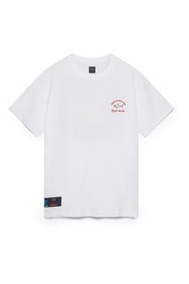 Белая футболка с принтом Paul&Shark