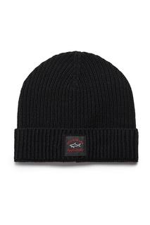 Черная шапка с логотипом Paul&Shark