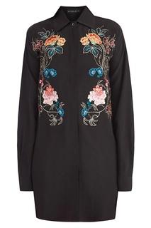 Черная рубашка с вышивкой Etro