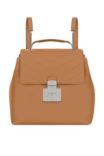 Бежевый кожаный рюкзак Fortuna Furla