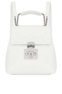 Белый кожаный рюкзак Fortuna Furla