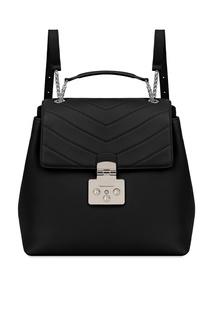 Черный кожаный рюкзак Fortuna Furla