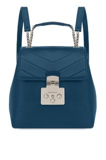 Бирюзовый кожаный рюкзак Fortuna Furla
