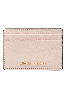 Пудровая кожаная визитница Michael Michael Kors