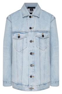 Голубая джинсовая куртка оверсайз Daze Alexander Wang