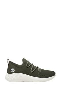 Зеленые текстильные кроссовки Timberland