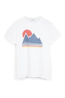 Белая футболка с принтом Timberland