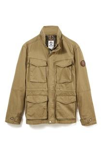 Бежевая куртка с карманами Timberland