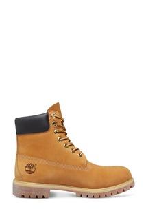Бежевые ботинки на шнуровке Timberland